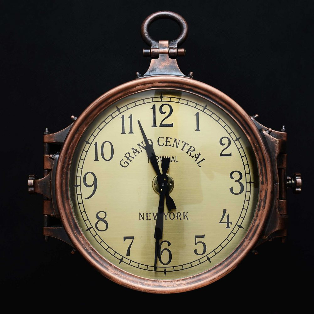 Винтажные уличные часы, изготовлены из меди, латуни